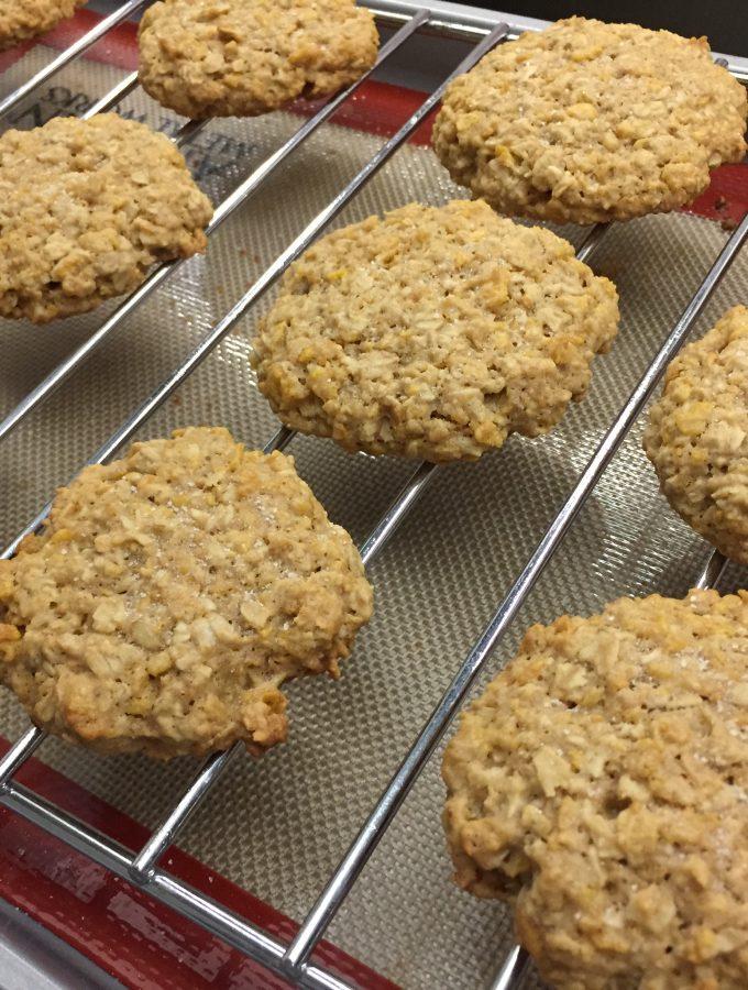 Salted Cornflake Banana Oatmeal Cookies