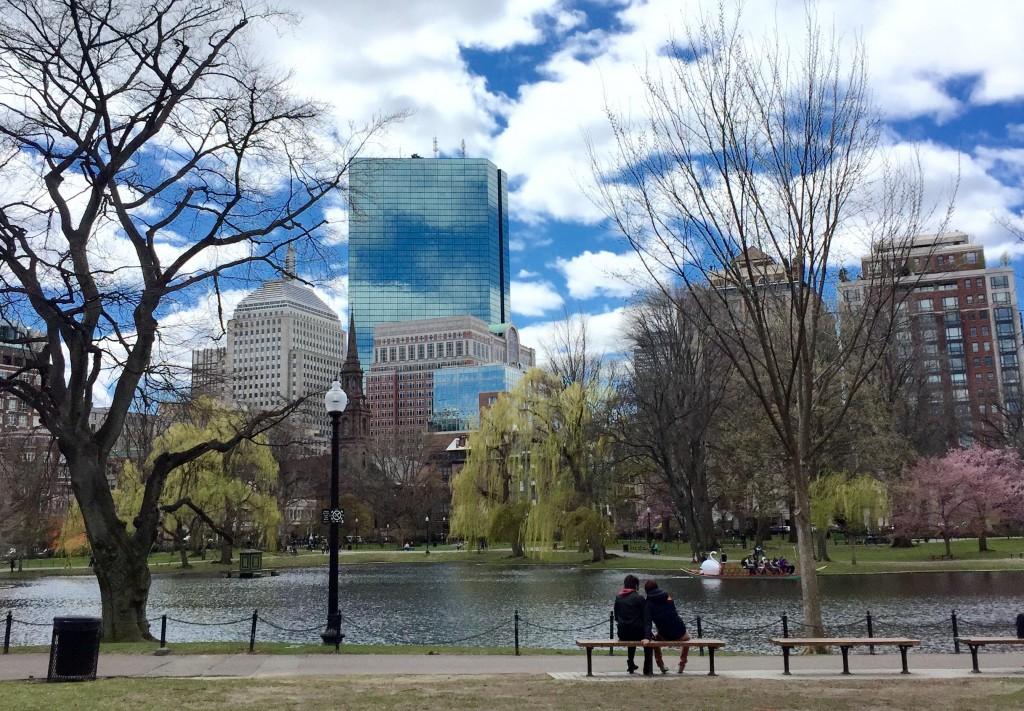 Hancock Building from Boston Garden, taken with iPhone 6