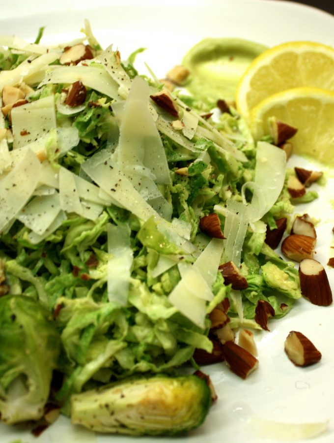 Classic Shaved Sprouts Salad