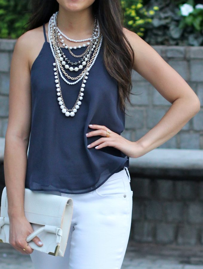 Grey-Blue Hues + White, for a summer date night