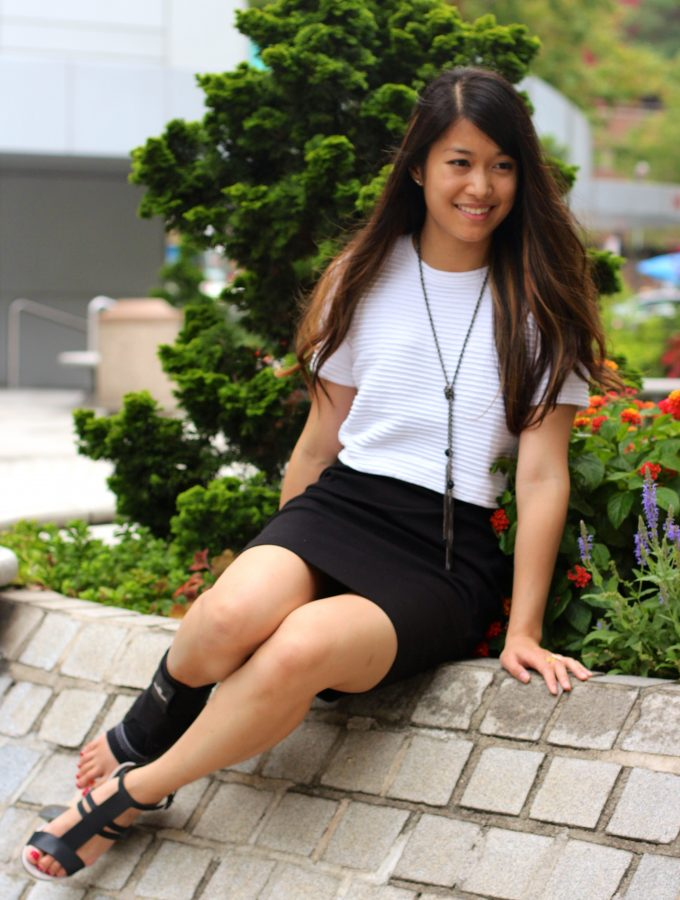 Black + White: Crop Top and Pencil Dress combo