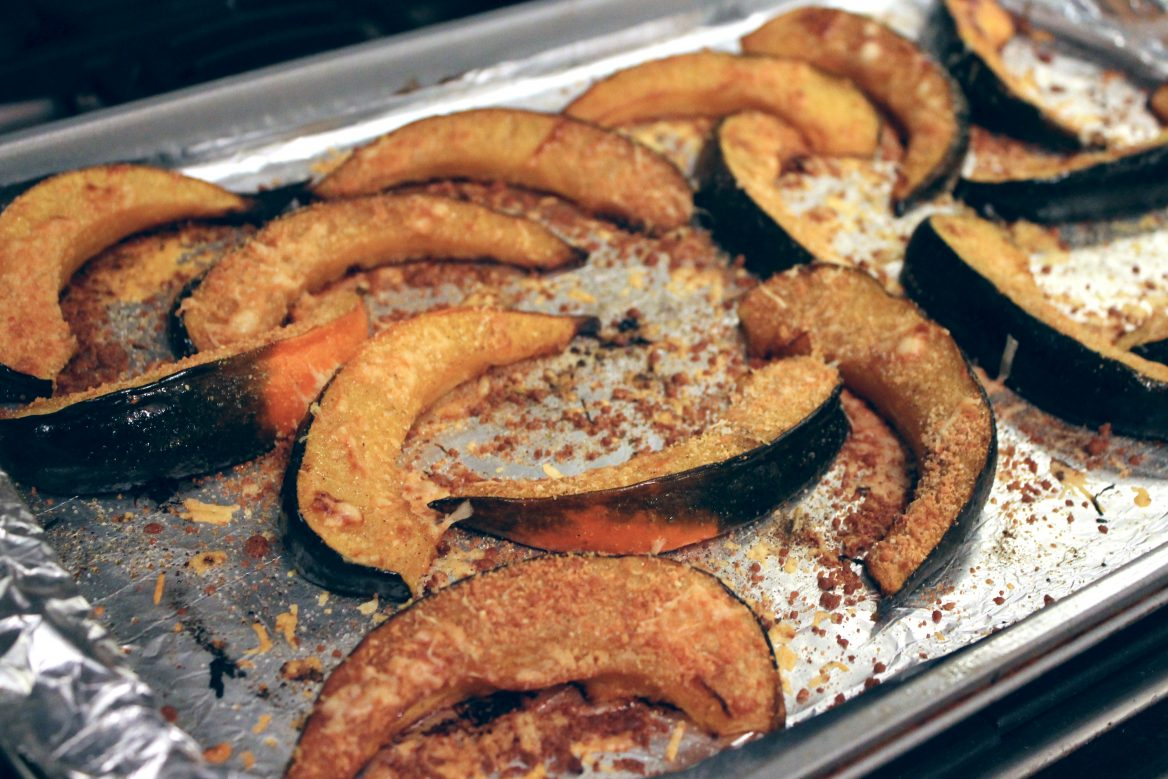 Roasted Acorn Squash + Parmesan Thyme Crust | penny for ...
