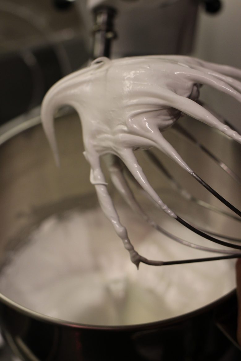 Rosewater Vanilla Macaron with Swiss Meringue Buttercream Filling