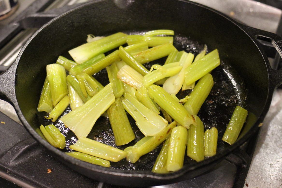 Simple Flavorful Braised Celery