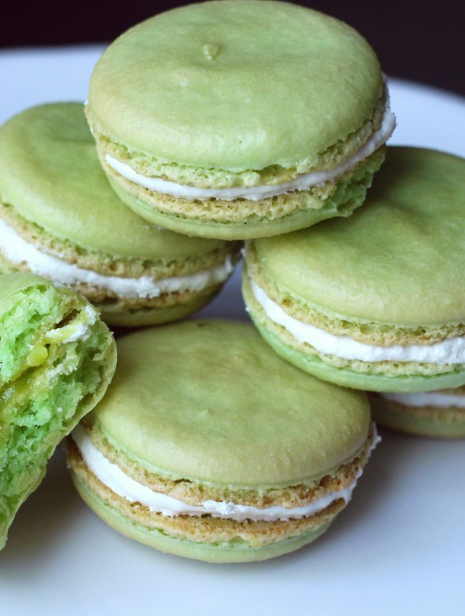 March: Key Lime Pie Macarons