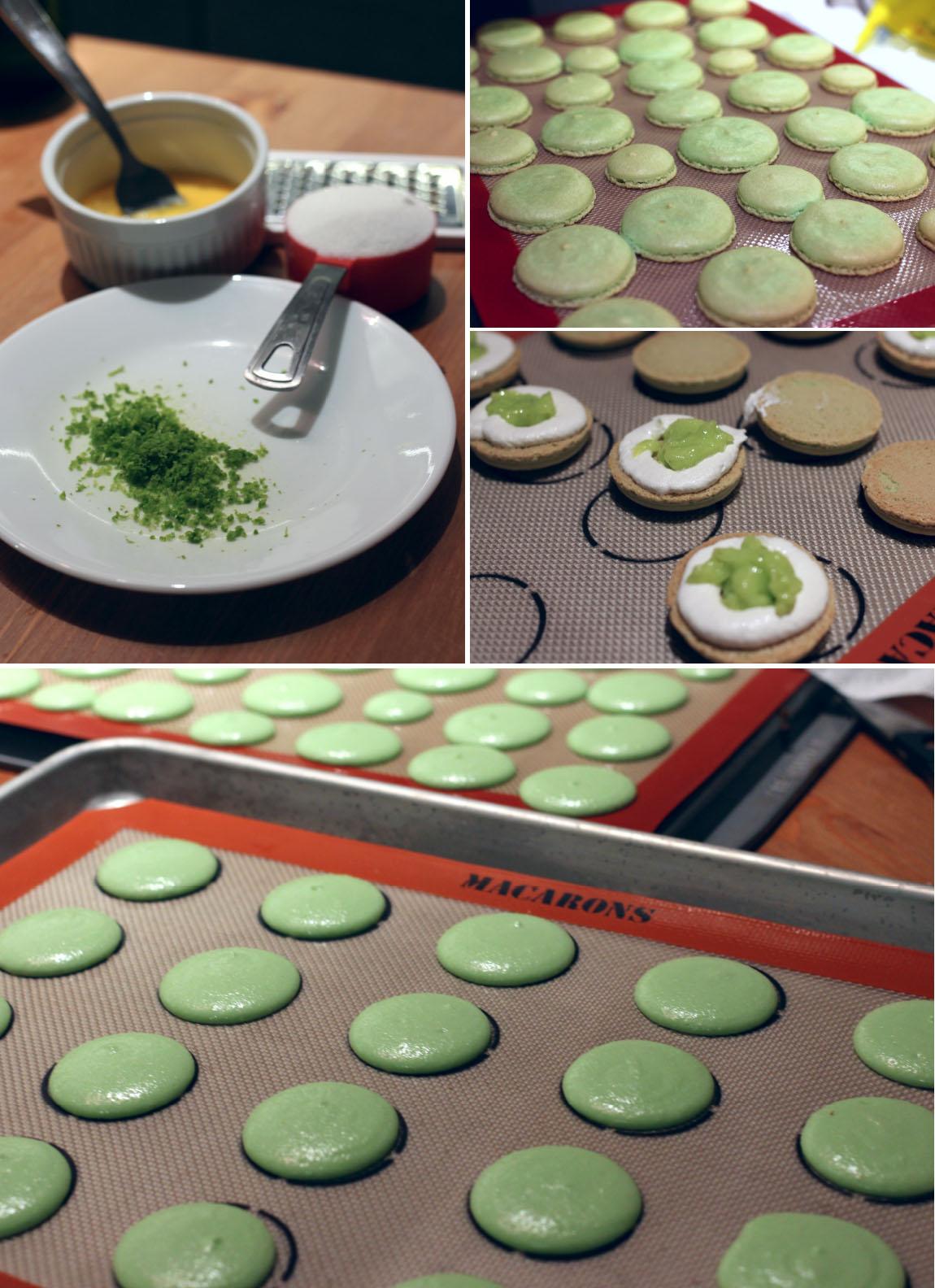 Key Lime Pie Macaron