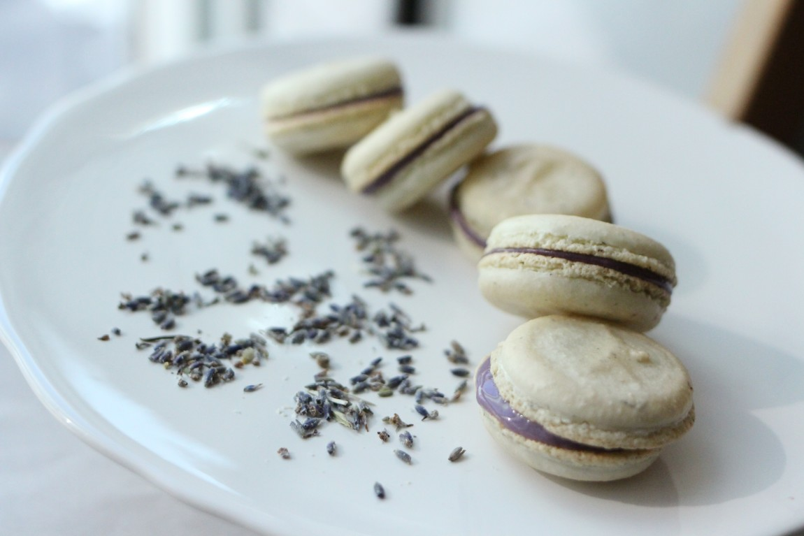 Lavender Macaron with Honey Vanilla Filling