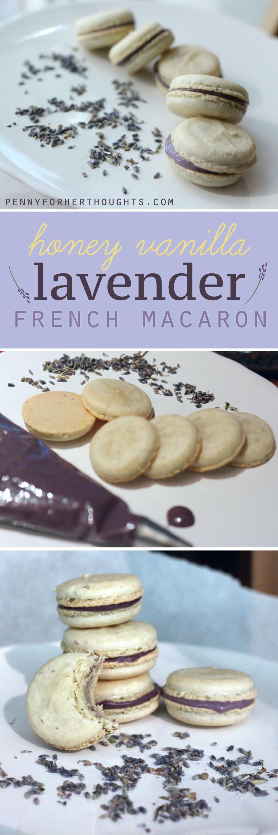 Lavender Macaron with Honey Vanilla Filling