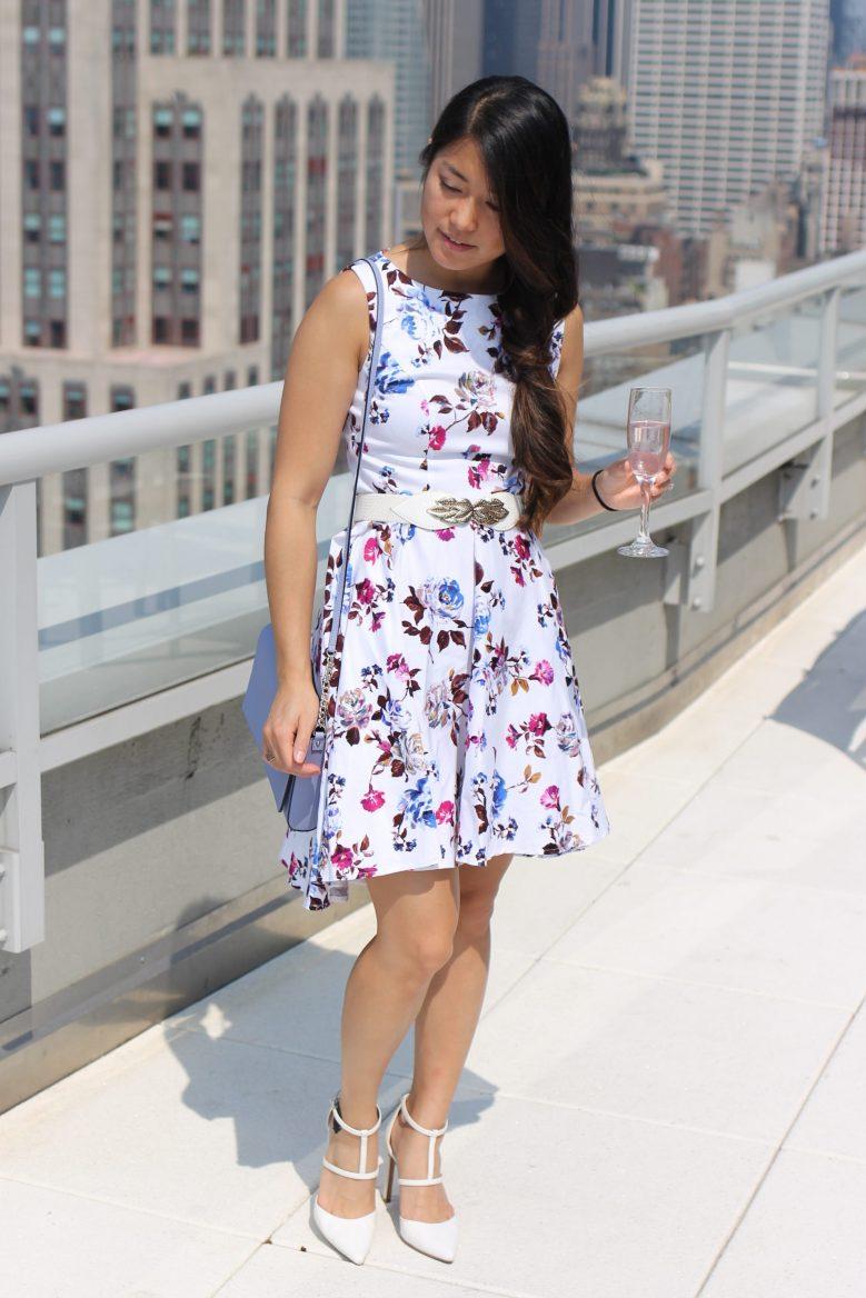 Summertime Floral Flare Dress