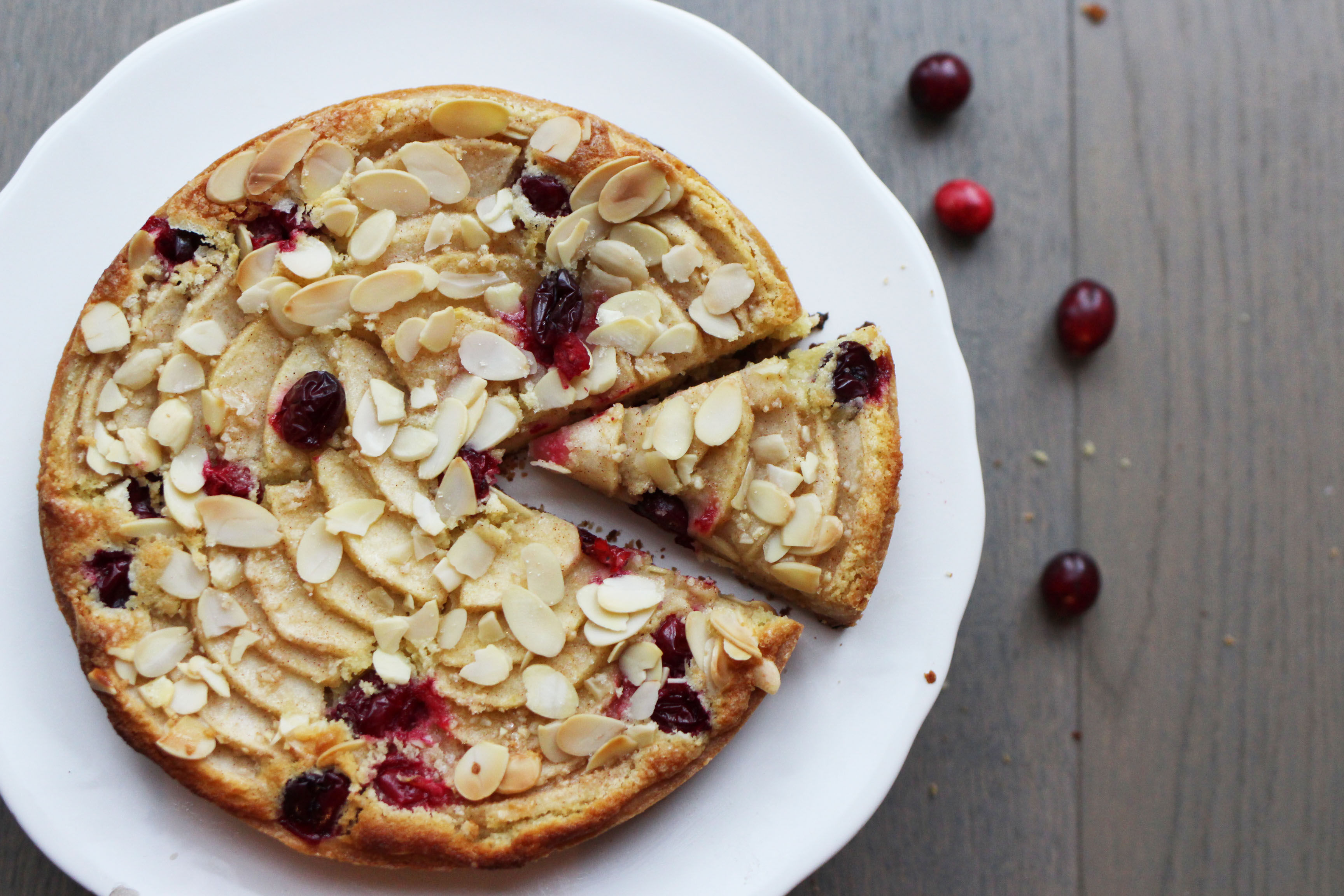Cranberry Apple Tart with Almond Cream | penny for her ...