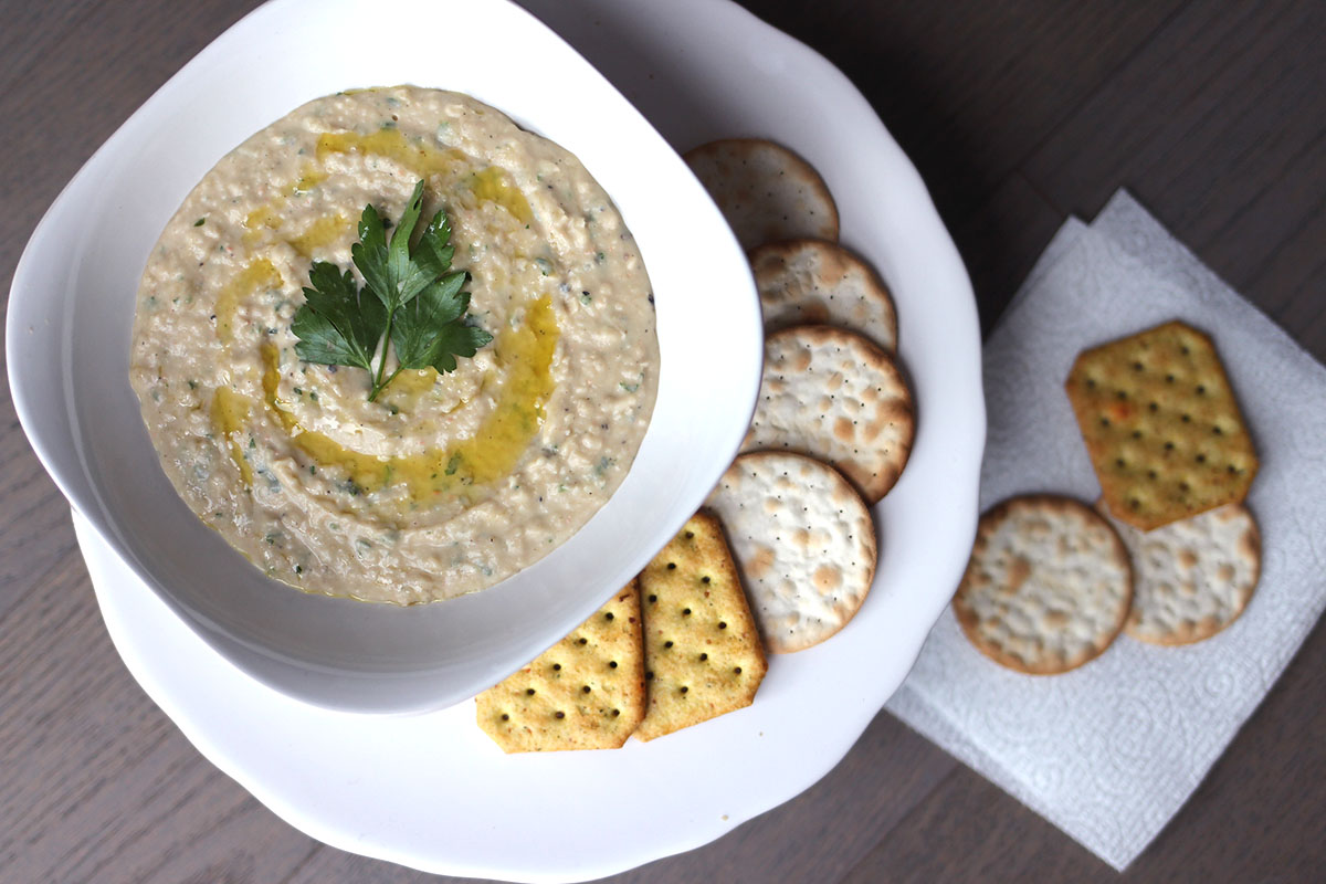 Easy Garlic Parsley White Bean Dip