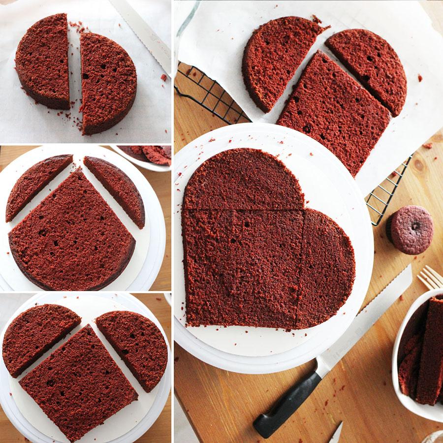 Heart Shaped Vegan Red Velvet Cake Penny For Her Thoughts