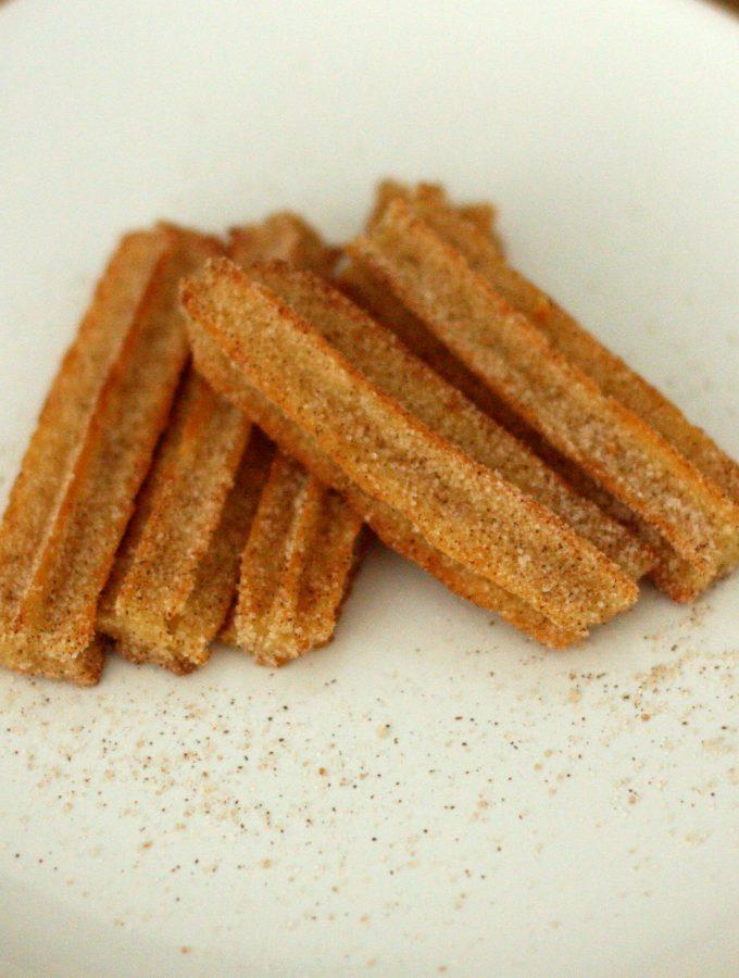 Baked Churros with Cinnamon Sugar