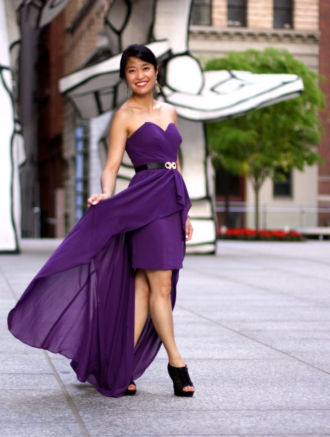 Royal Purple Summertime High-Low Maxi