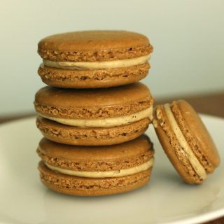 Coffee Macaron + Coffee Buttercream Filling