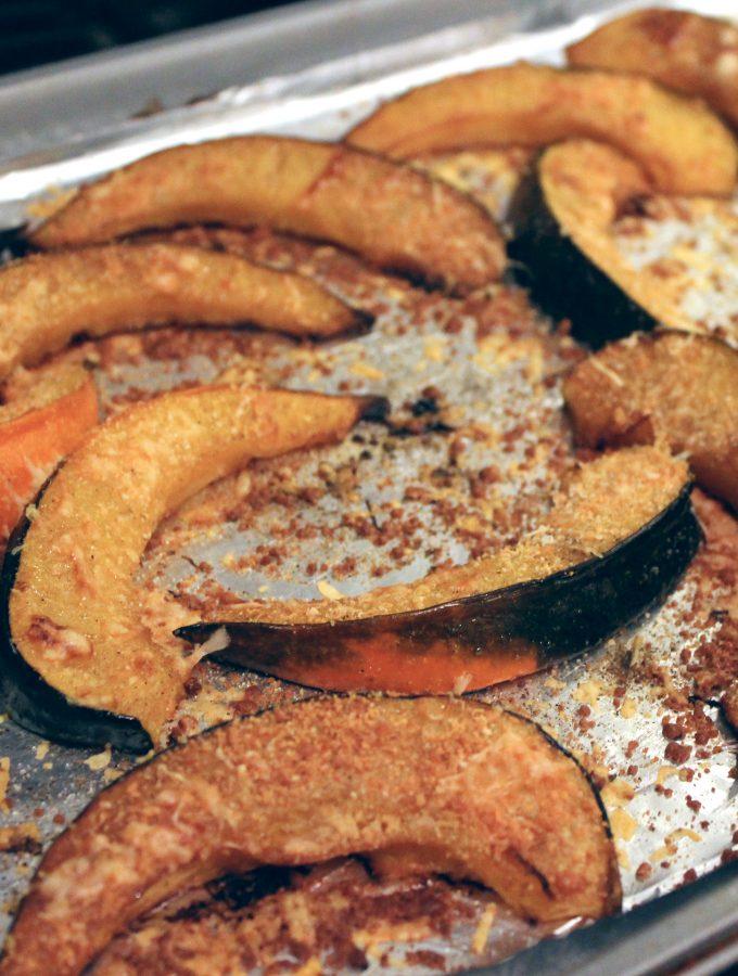 Roasted Acorn Squash + Parmesan Thyme Crust