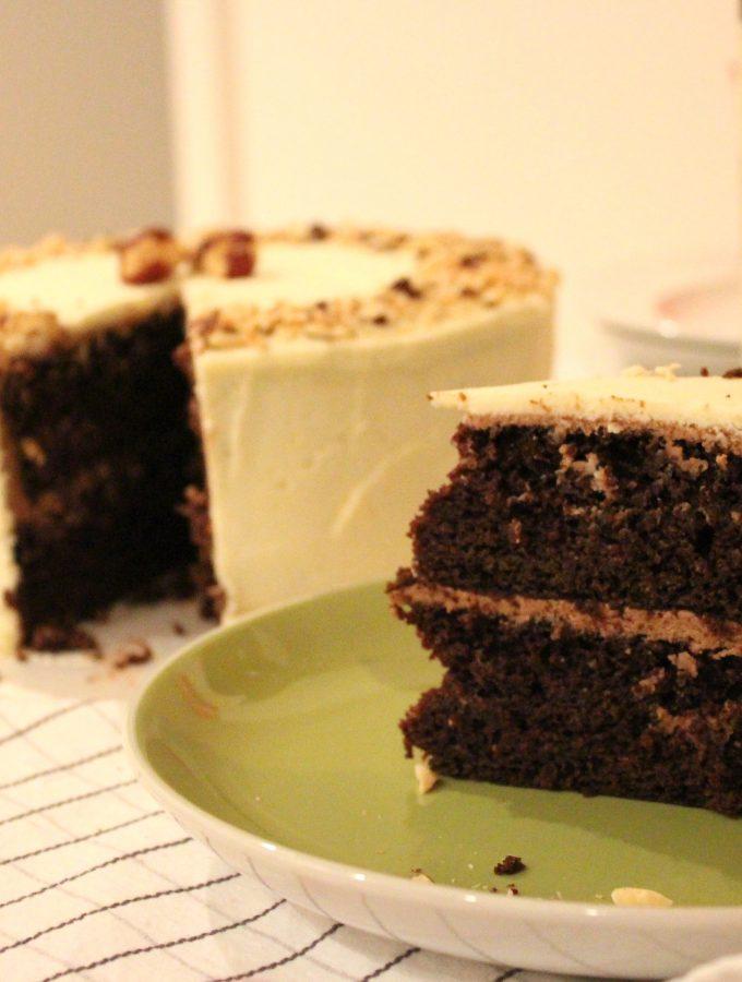 Nutella Dark Chocolate Layer Cake