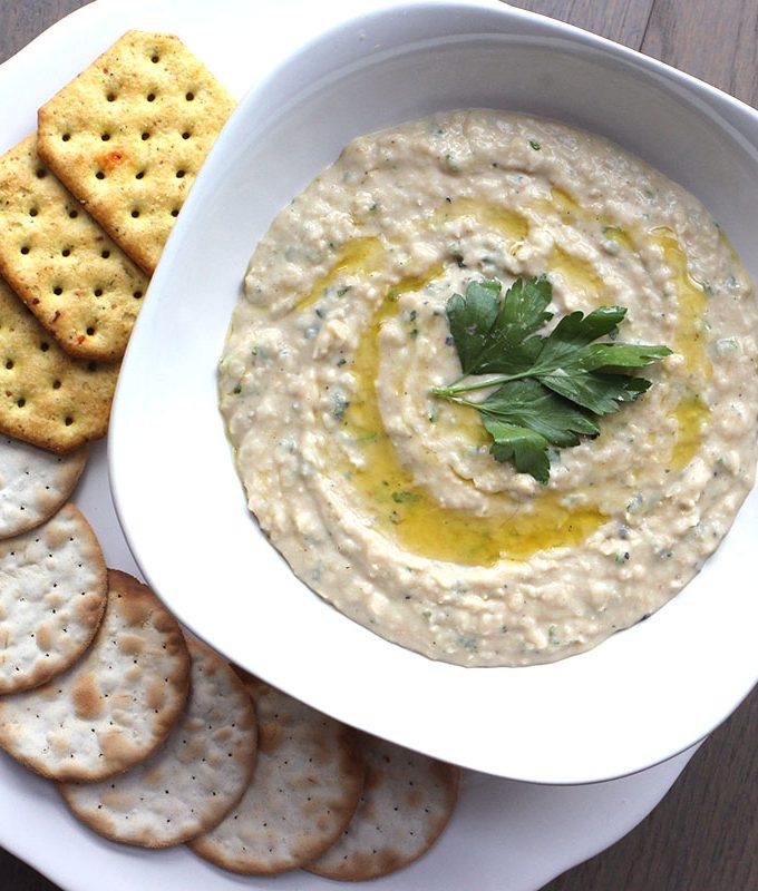 Garlic Parsley White Bean Dip