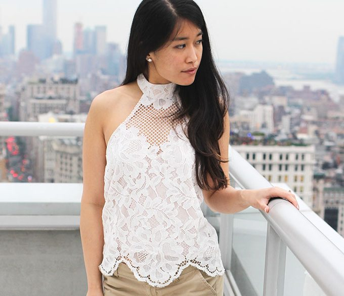 Lace Halter Top